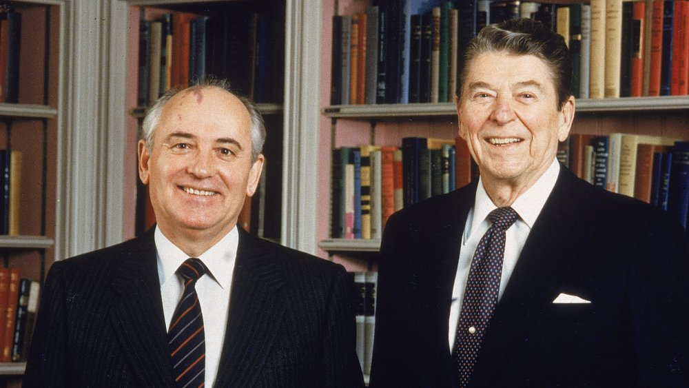 Soviet Premier Gorbachev and American President Ronald Reagan
