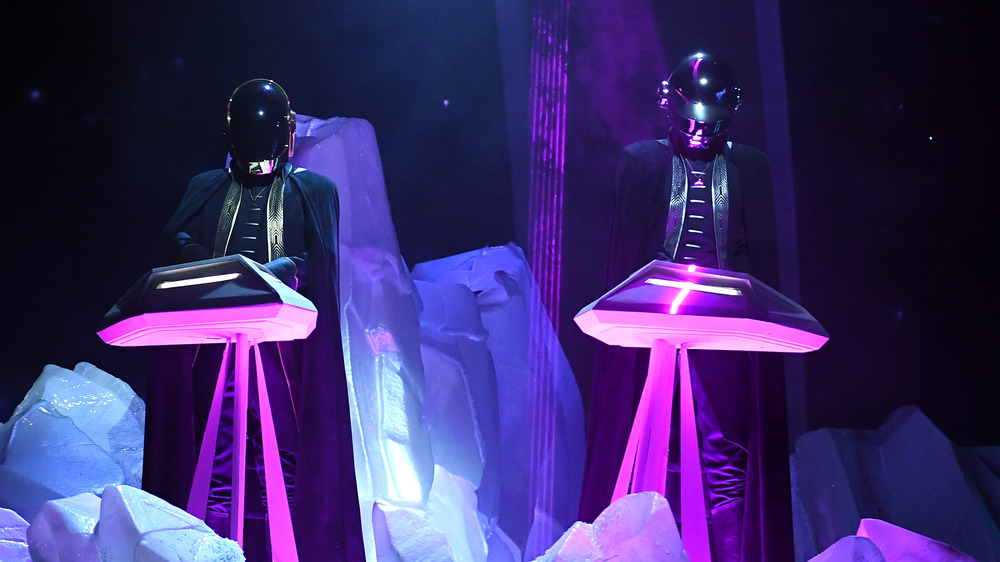 Daft Punk perform at the 59th Grammy's
