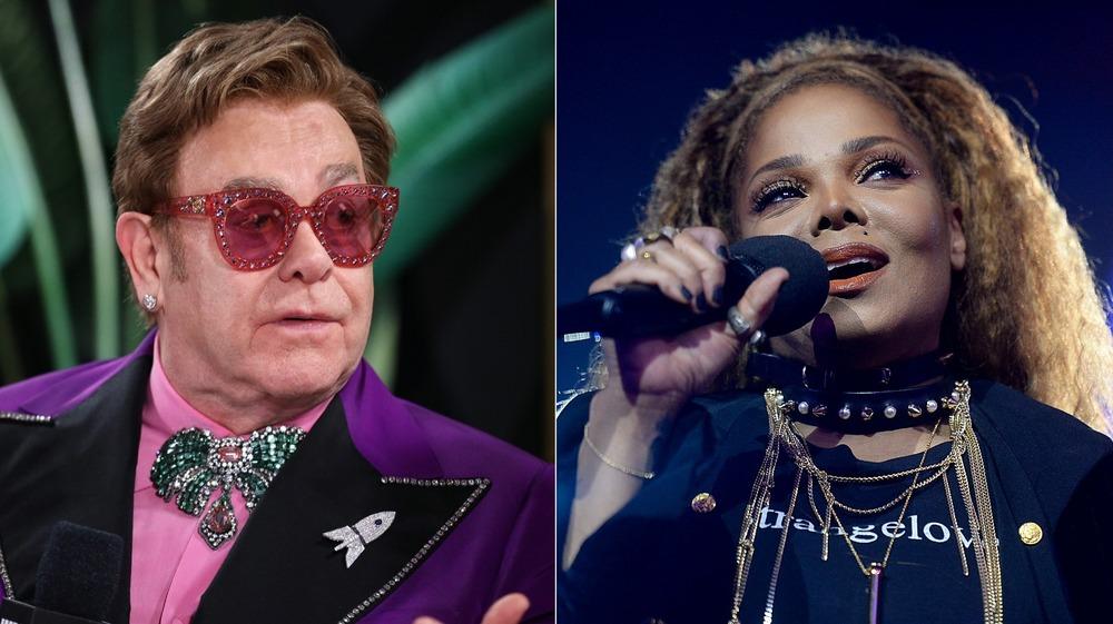 Elton John Janet Jackson Singing