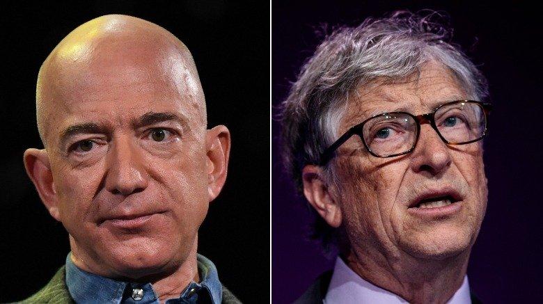 Jeff Bezos and Bill Gates