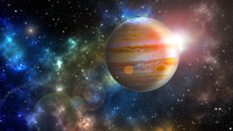 Jupiter surrounded by a spacescape