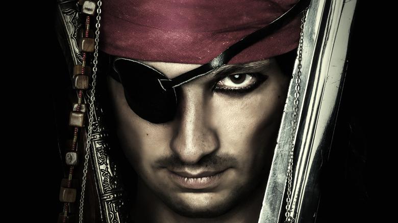 pirate wearing eyepatch
