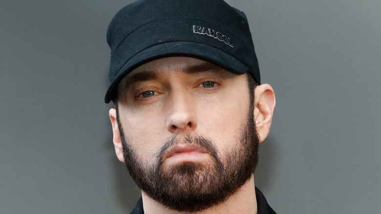 Eminem scowling