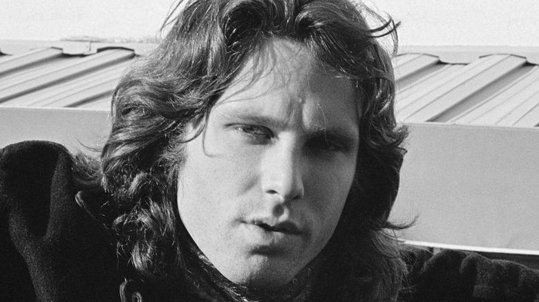 Jim Morrison posing for photo