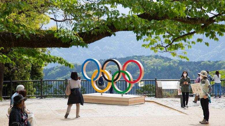 Olympic symbol in Japan