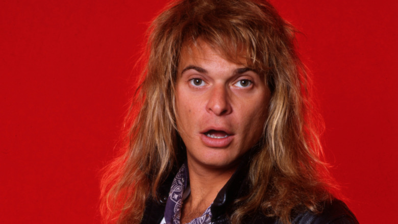 David Lee Roth with mouth open