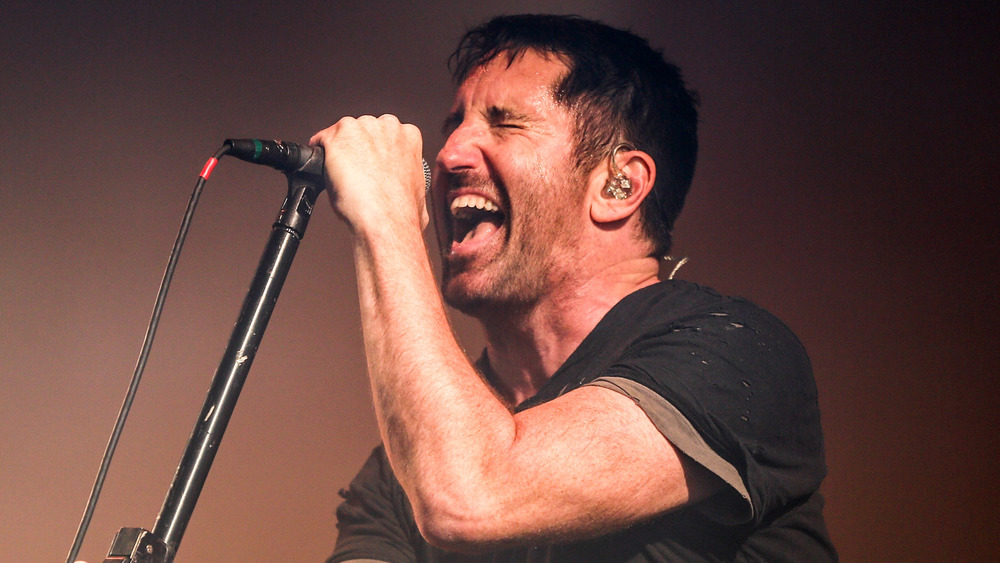 Nine Inch Nails singer Trent Reznor performs in 2017