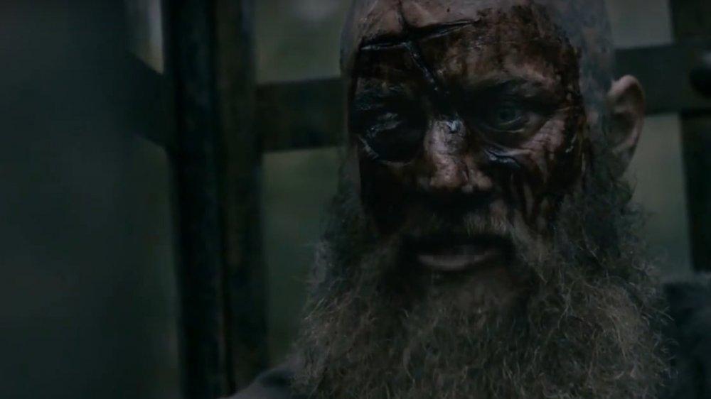 Ragnar Lodbrok in the TV show Vikings before his death