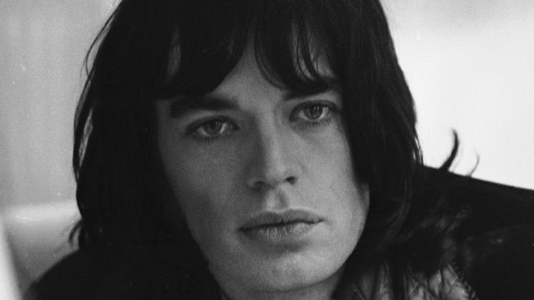 Mick Jagger with bangs