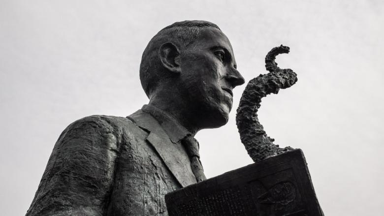 Statue of H.P. Lovecraft