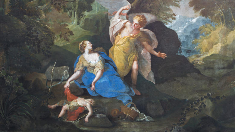 artwork of Hagar with Ishmael and an angel
