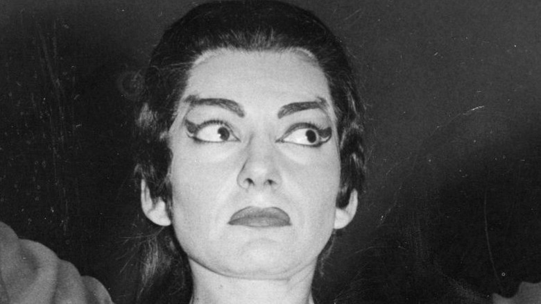Maria Callas on stage