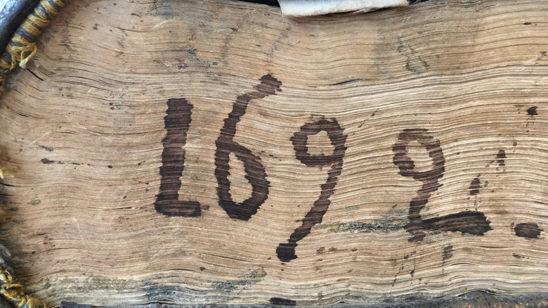 1692 on an old book