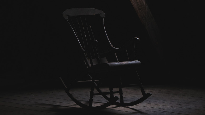 Spooky rocking chair