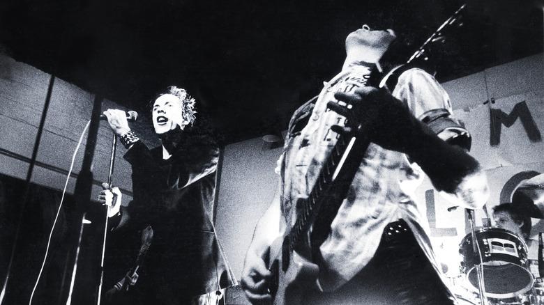 Sex Pistols performing in 1976
