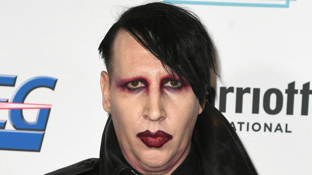 Marilyn Manson looking serious