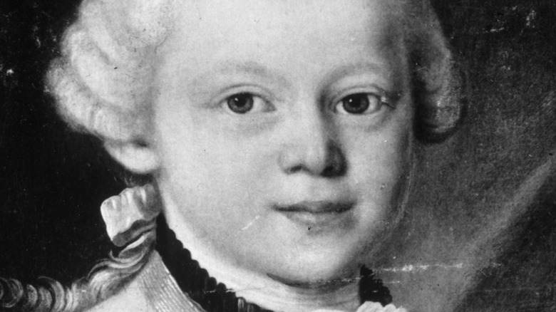 Drawing of Mozart, age 7
