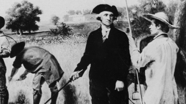 Washington with his slaves