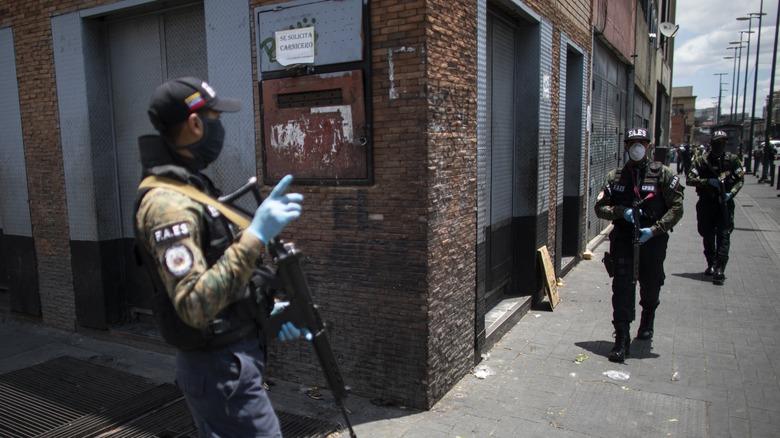 Venezuela's Special Action Forces (FAES) patrolling
