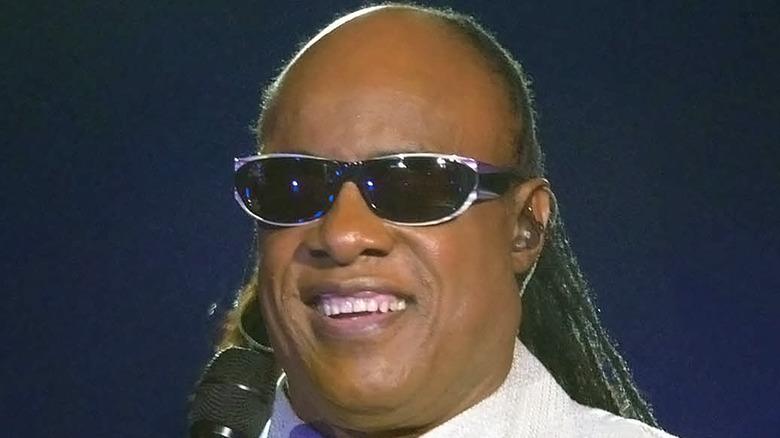 Stevie wonder smiling