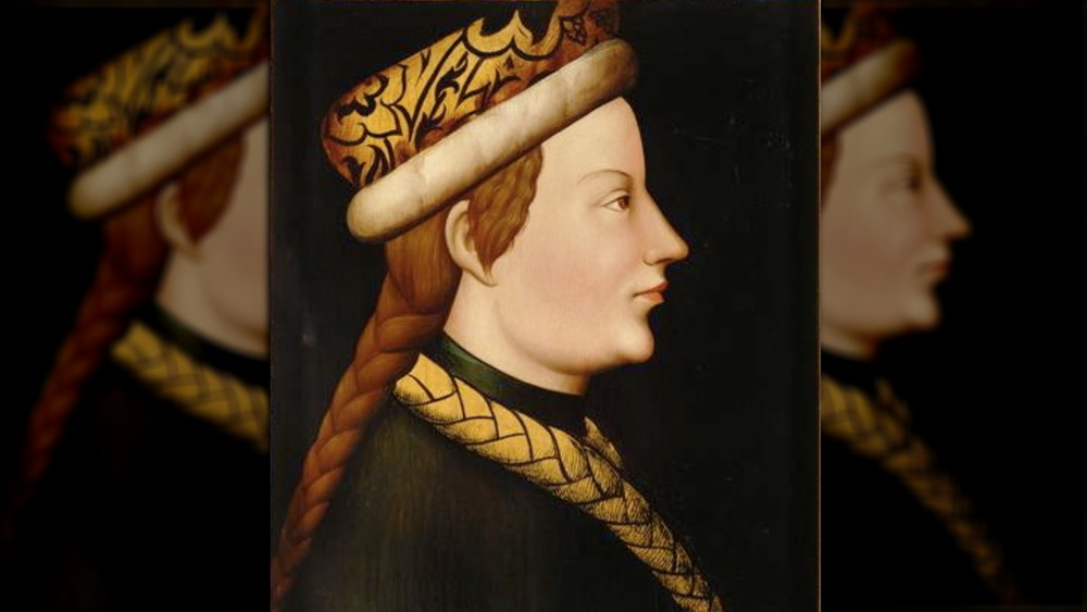painting albrecht iii of duke austria turned to the side