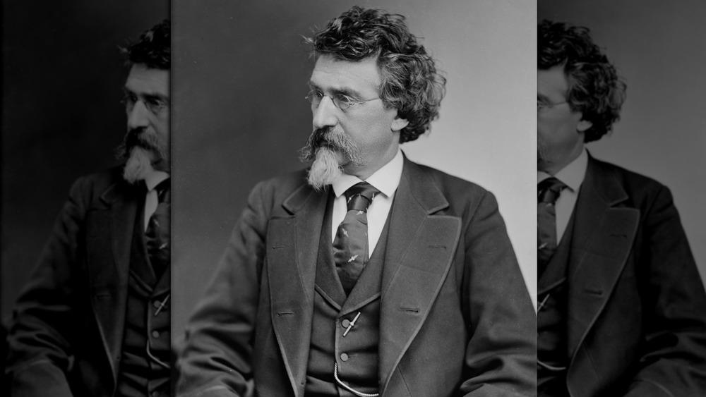 A photograph of famous American photographer Mathew Brady.