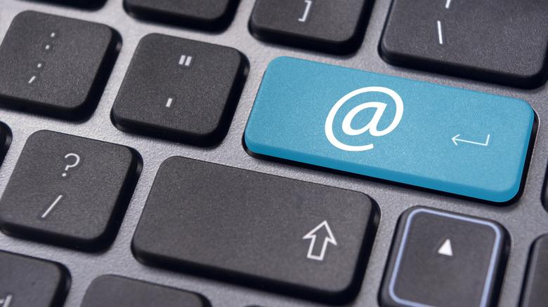 'At' symbol on keyboard