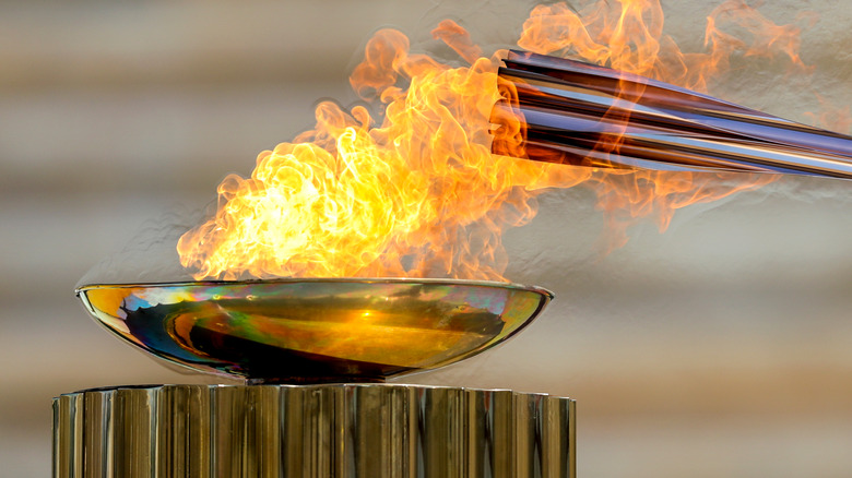 Sacred fire for Olympic Games
