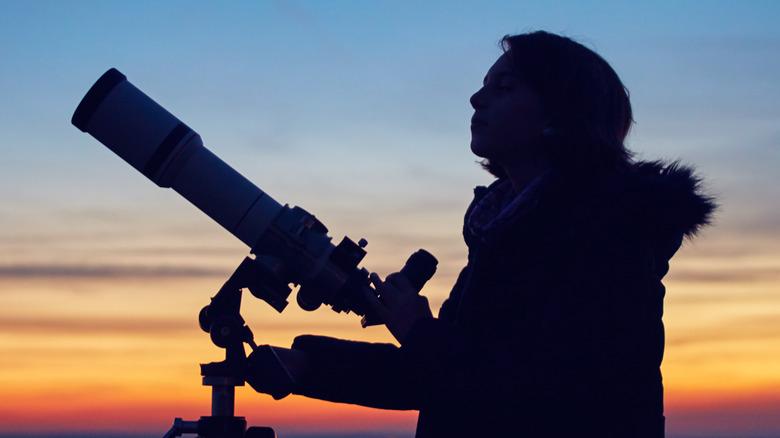 Stargazer observing the skies