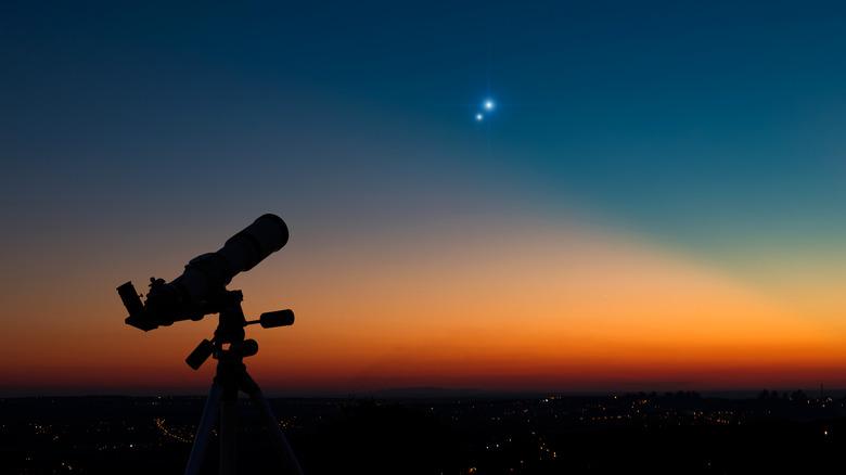 telescope and night sky