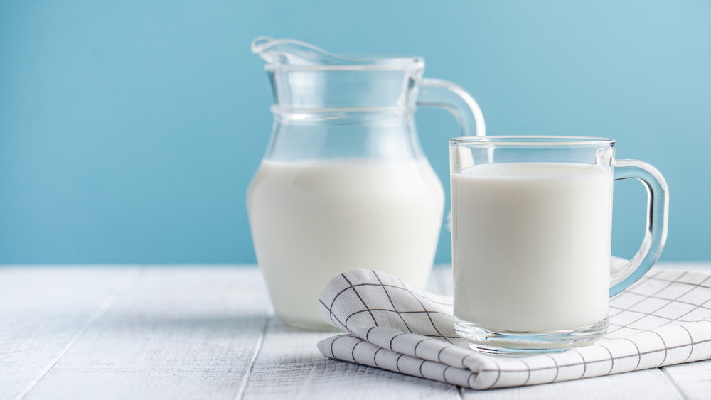 milk and glass