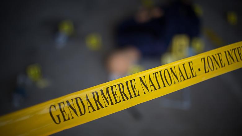 French crime scene