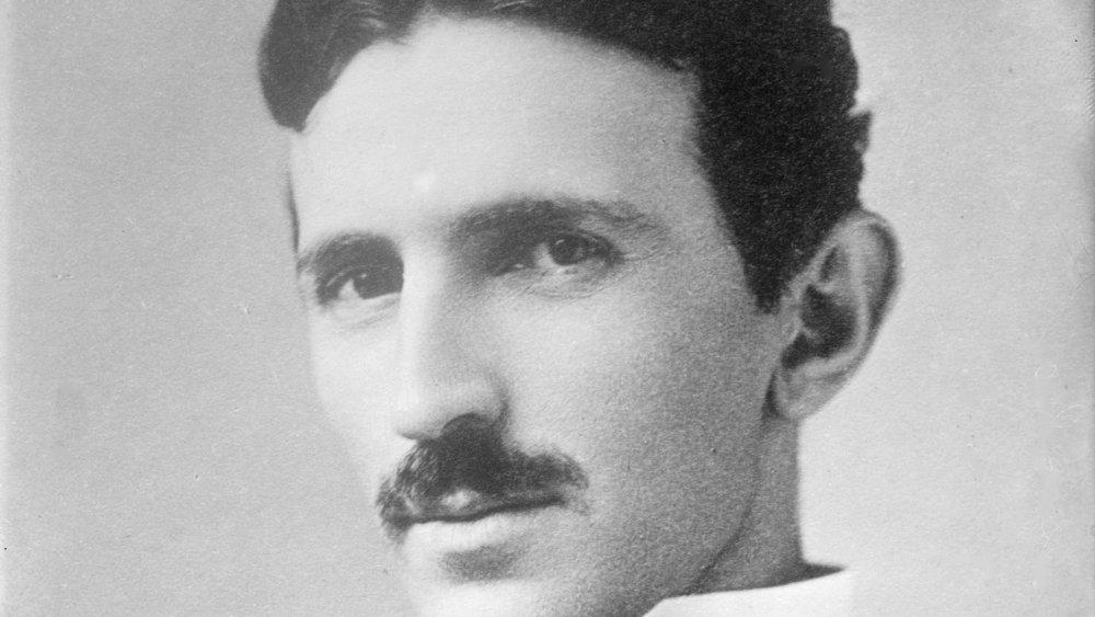 Nikola Tesla in 1890 at age 34