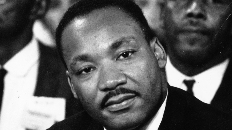 Martin Luther King Jr. staring