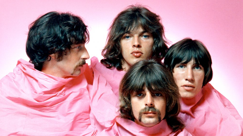 Pink Floyd draped in a pink covering