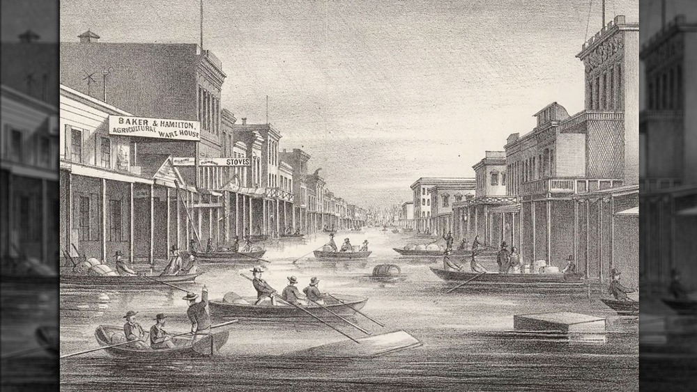 illustration of sacramento flood