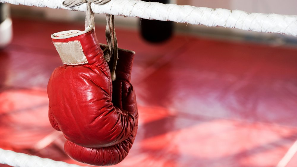 A generic shot of boxing gloves