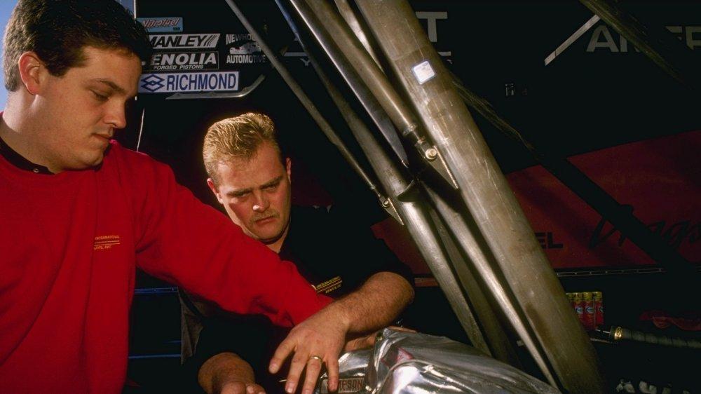 A shot of drag racer Scott Kalitta from 1996