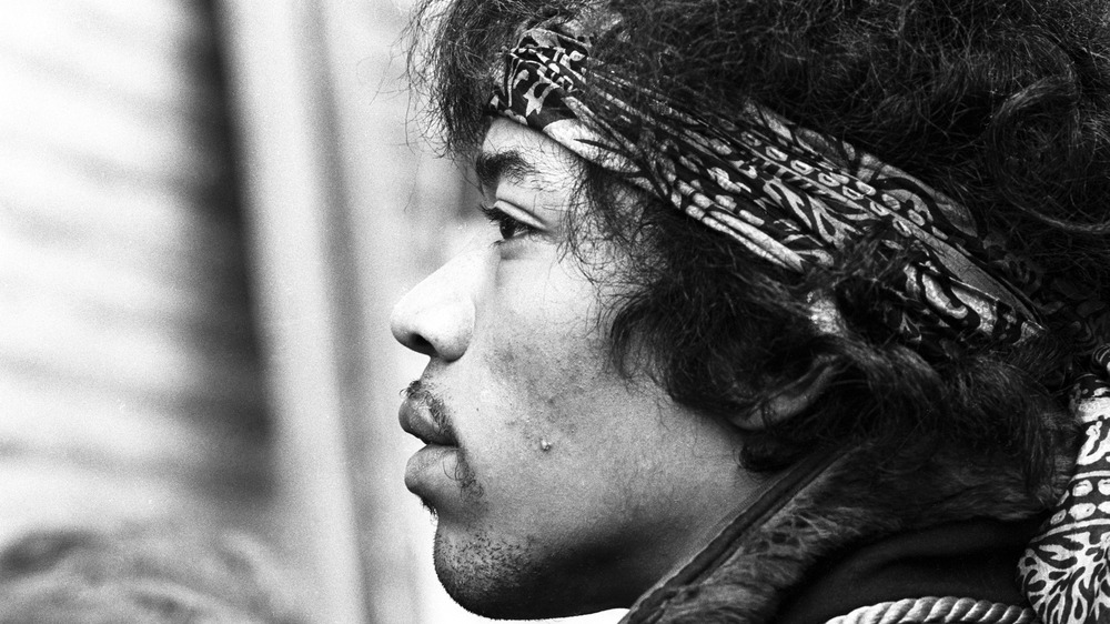 Close up of Jimi Hendrix in 1967
