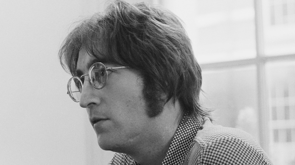 John Lennon being interviewed