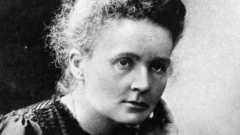 Curie in her laboratory