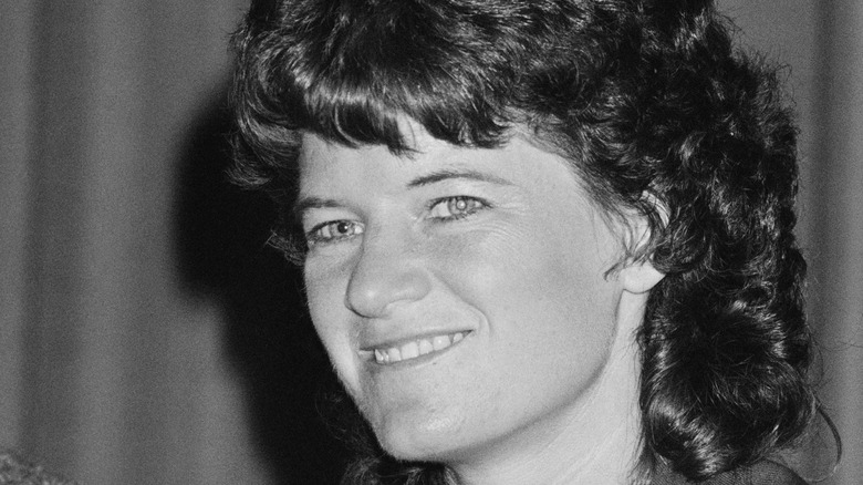 A photograph of American astronaut Sally Ride.