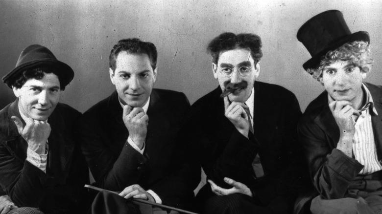 Marx Brothers posing