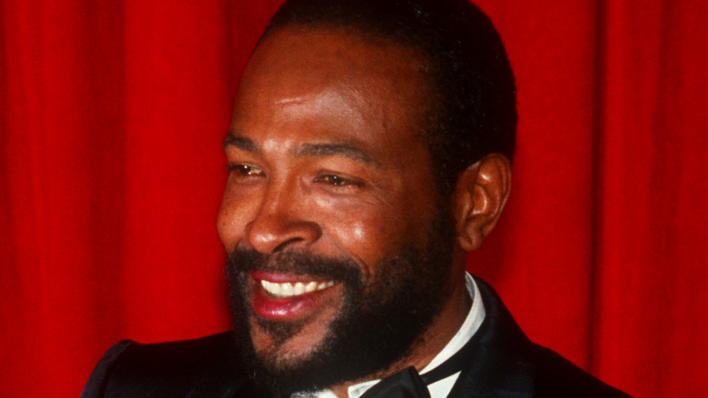 Marvin Gaye accepting Grammy