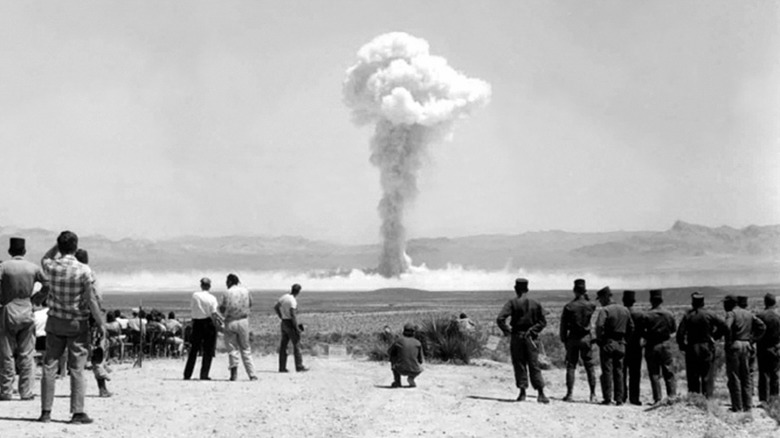 Nevada Test Site nuclear bomb