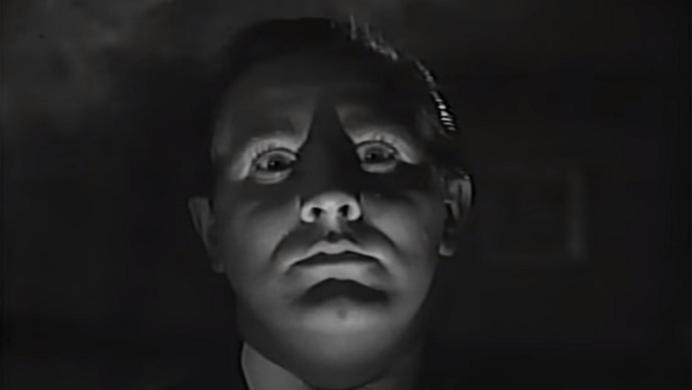Ed Wood with face lit up
