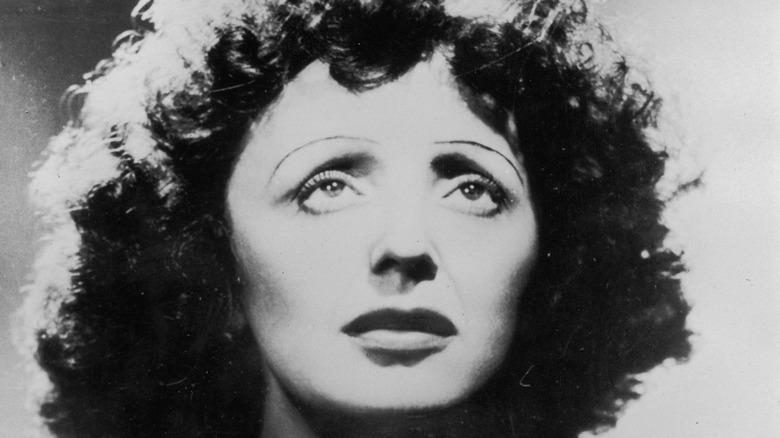 Edith Piaf looking sad