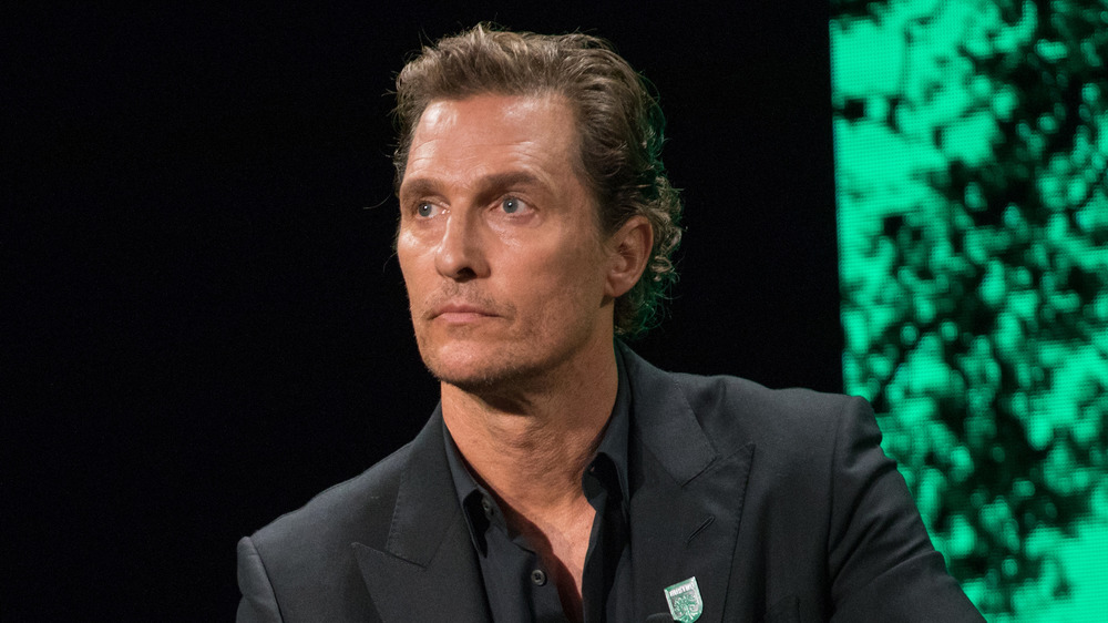 Matthew McConaughey not smiling