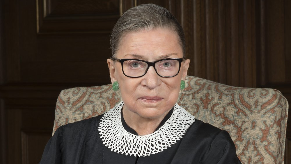 Justice Ruth Bader Ginsburg in her Supreme Court robes in 2016