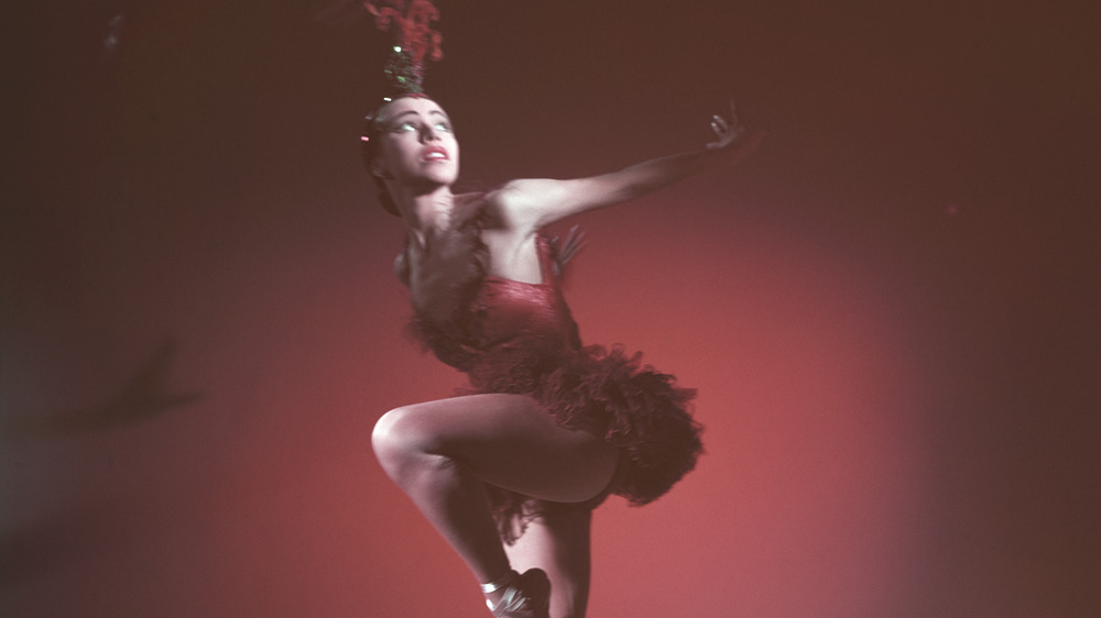 Maria Tallchief dancing in red costume